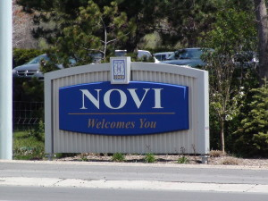 Novi Michigan City Sign
